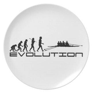 Arte de la evolución del deporte acuático del Rowe Plato Para Fiesta