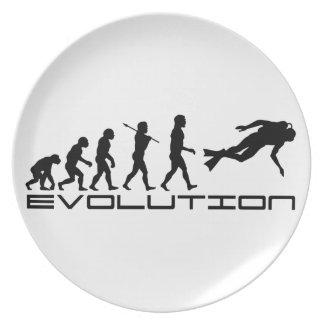 Arte de la evolución del deporte acuático del salt platos para fiestas