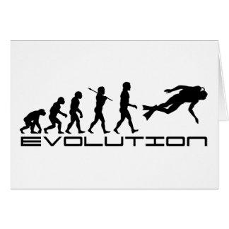 Arte de la evolución del deporte acuático del salt tarjeta de felicitación
