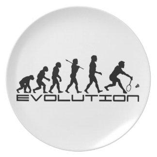 Arte de la evolución del deporte de la estafa del  plato de cena
