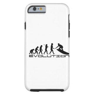 Arte de la evolución del deporte de la persona que funda para iPhone 6 tough