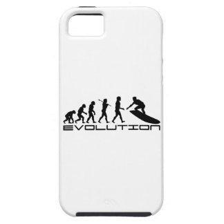 Arte de la evolución del deporte de la persona que iPhone 5 carcasa