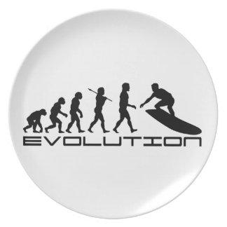 Arte de la evolución del deporte de la persona que plato de comida