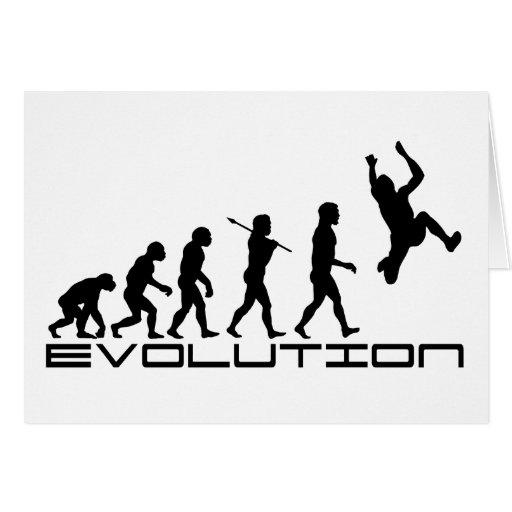 Arte de la evolución del deporte de la triple salt felicitaciones