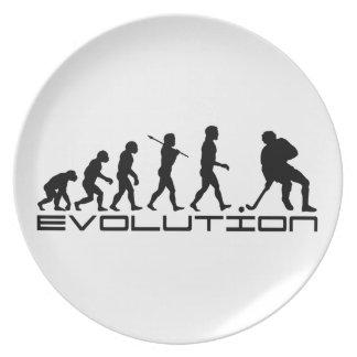Arte de la evolución del deporte del hockey sobre  plato para fiesta