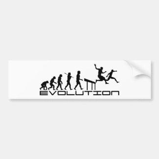 Arte de la evolución del deporte del Hurdler de lo Etiqueta De Parachoque