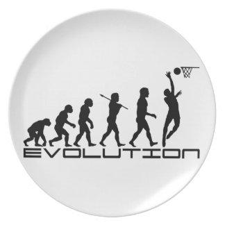 Arte de la evolución del deporte del jugador de bá plato para fiesta