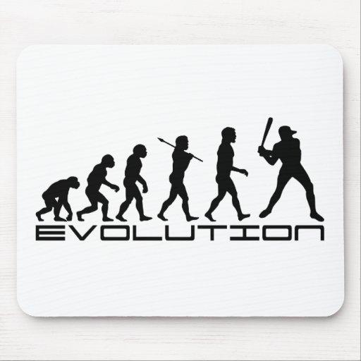 Arte de la evolución del deporte del jugador de bé tapetes de raton
