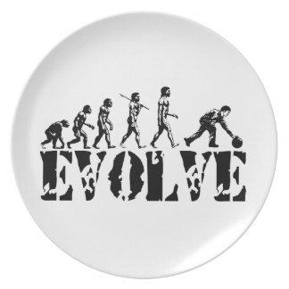 Arte de la evolución del deporte del jugador de bo platos