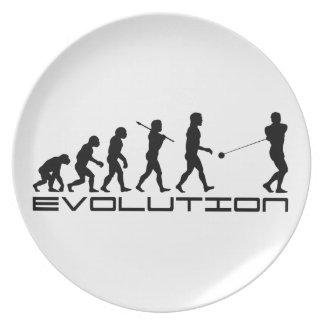 Arte de la evolución del deporte del lanzamiento d plato