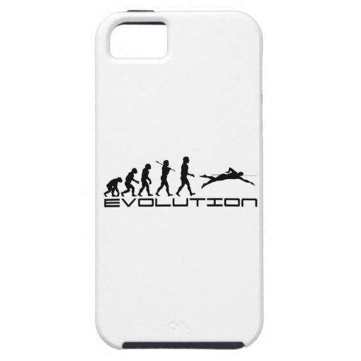 Arte de la evolución del deporte del nadador de la iPhone 5 protectores