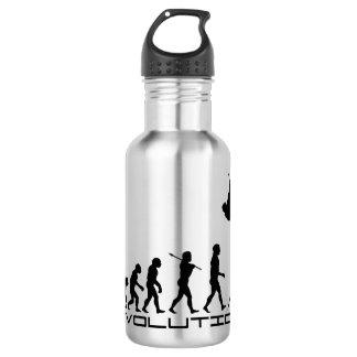 Arte de la evolución del deporte del salto con botella de agua de acero inoxidable