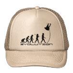 Arte de la evolución del deporte del salto con gorras