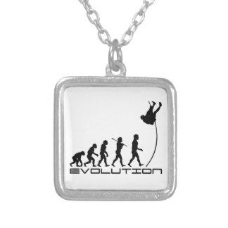 Arte de la evolución del deporte del salto con pér colgantes