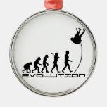 Arte de la evolución del deporte del salto con pér ornato