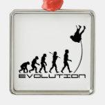 Arte de la evolución del deporte del salto con pér adornos