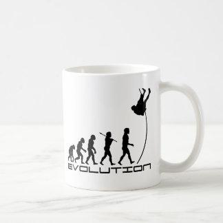 Arte de la evolución del deporte del salto con taza clásica