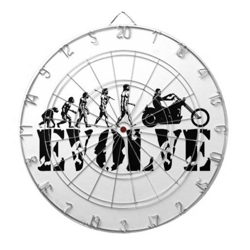 Arte de la evolución del jinete de la motocicleta