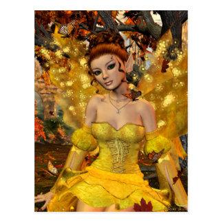 Arte de la fantasía de Fae de la danza del otoño Tarjeta Postal