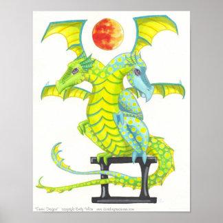 Arte de la fantasía de la astrología de la muestra póster