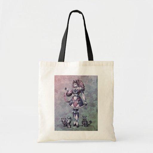 Arte de la fantasía de la diosa del gato - la bolsas