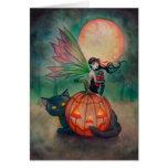 Arte de la fantasía de la hada del duendecillo de tarjeta de felicitación