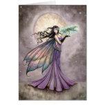 Arte de la fantasía de la hada y de la libélula felicitación