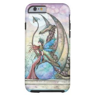 Arte de la fantasía de la hada y del dragón funda para iPhone 6 tough