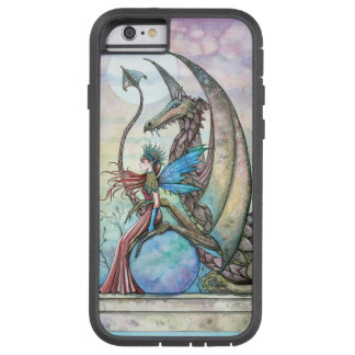 Arte de la fantasía de la hada y del dragón funda de iPhone 6 tough xtreme