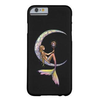 Arte de la fantasía de la luna de la sirena funda de iPhone 6 barely there