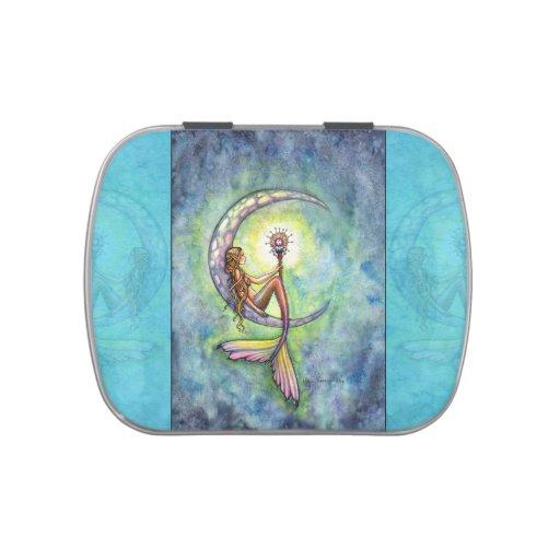 Arte de la fantasía de la luna de la sirena por Mo