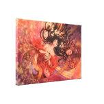 Arte de la fantasía de la máscara de Noh del japon Impresión En Lona Estirada