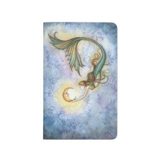 Arte de la fantasía de la sirena de la luna del ma cuadernos