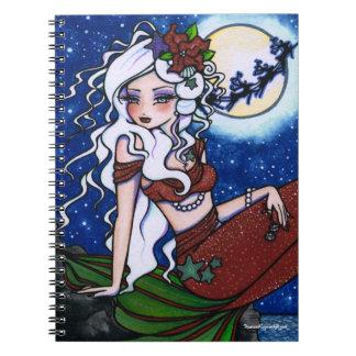 Arte de la fantasía de la sirena de la Nochebuena  Cuaderno