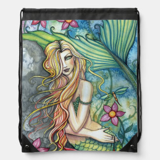 Arte de la fantasía de la sirena del agua dulce mochilas