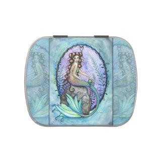 Arte de la fantasía de la sirena por Molly Harriso Frascos De Dulces
