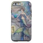 Arte de la fantasía de la sirena y del Seahorse Funda Para iPhone 6 Tough
