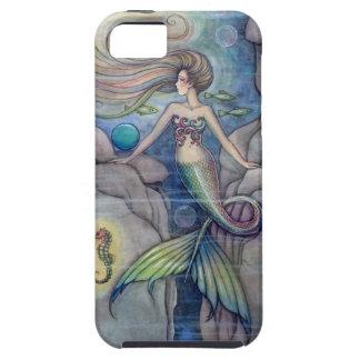 Arte de la fantasía de la sirena y del Seahorse iPhone 5 Fundas