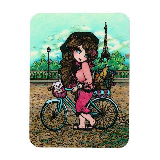 Arte de la fantasía de la torre Eiffel de París de Imanes Rectangulares
