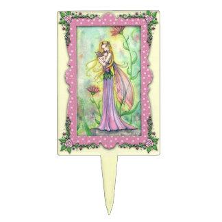 Arte de la fantasía de las hadas de la flor de la  palillos de tarta