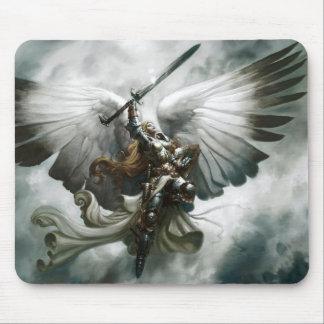 Arte de la fantasía del ángel del guerrero tapetes de ratones