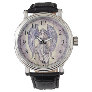 Arte de la fantasía del ángel por Molly Harrison Reloj De Mano