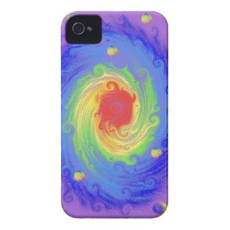 Arte de la fantasía del arco iris iPhone 4 Case-Mate protectores