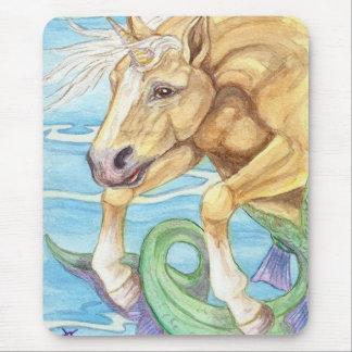 Arte de la fantasía del caballo de mar del unicorn tapete de raton