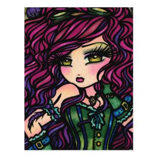 Arte de la fantasía del chica del globo del aire c tarjetas postales