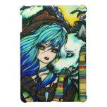 Arte de la fantasía del chica del lobo del vampiro iPad mini cárcasa