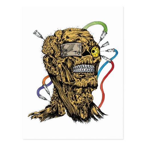 Arte de la fantasía del cráneo del monstruo de la tarjeta postal