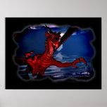 Arte de la fantasía del dragón 3D Posters