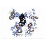 Arte de la fantasía del dragón postal