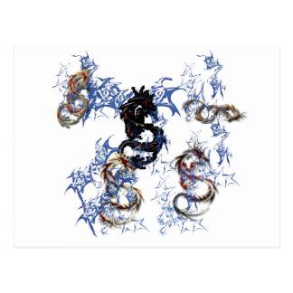 Arte de la fantasía del dragón tarjeta postal